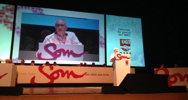 Àlvarez convida la nova direcció del sindicat a seguir potenciant el paper innovador i de referència que ha fet forta la UGT